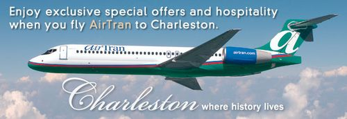 Tell your friends and family to fly AirTran to Charleston and they will receive $10 off per night at The Francis Marion Hotel until August 30.