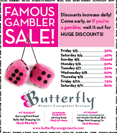 Butterfly_Gambler Sale