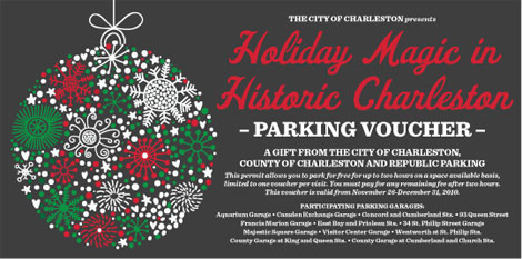 Jack Hurley's Holiday Shopping Tip: TWO HOURS OF FREE PARKING in downtown Charleston