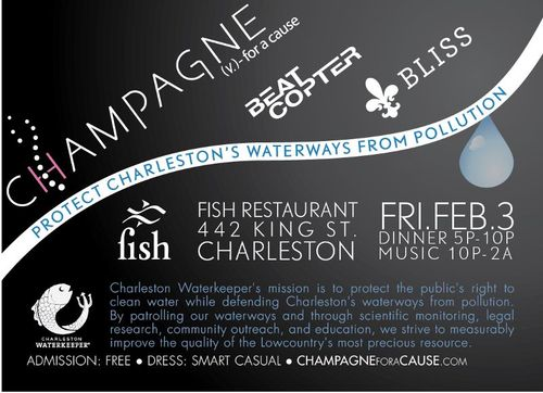 Champagne for a Cause event at Fish to support Charleston Waterkeepet
