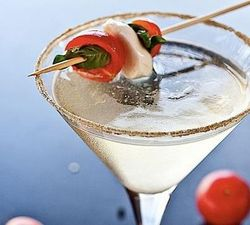 The Caprese Martini at The Cocktail Club