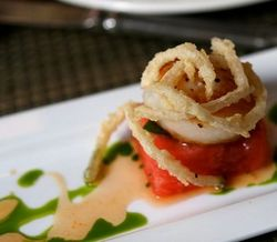 Halls Chophouse Grilled Scallop over Fresh Watermelon