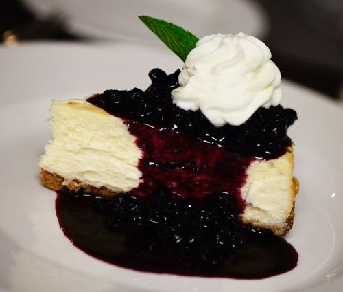 Cheesecake Fruit Preserves Halls Chophouse