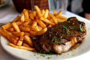Steak Frites at La Fourchette
