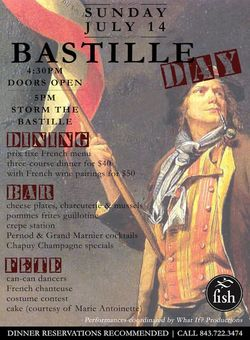 Bastille Day at Fish Restaurant Charleston
