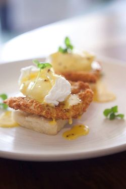 Fried Chicken Benedict at Stars Rooftop and Grill Room
