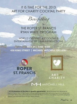 Michael Mitchell Gallery Art for Charity Event