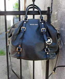 Michael Kors Black Butterfly Leather Bag at Butterfly