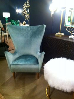 Retro Chair Fur Ottoman Michael Mitchell Gallery
