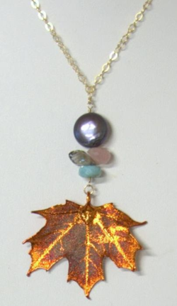 Copper Leaf Necklace by Kelly Wenner Grossman