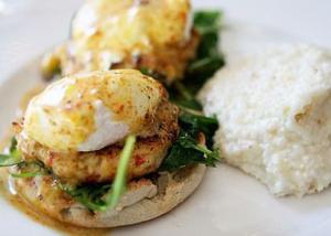 Halls Chophouse Crabcake Eggs Benedict