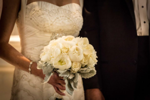 Anna Bella Florals White Rose Peony Bridal Bouquet