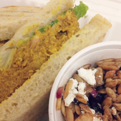 Persimmon Cafe Curry Chicken Sandwich