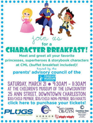 Children's Museum of Lowcountry Character Breakfast