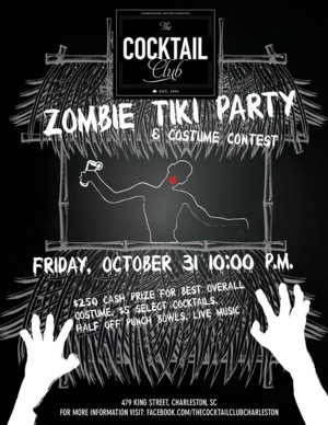 Zombie Tiki Party The Cocktail Club