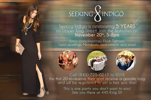 Seeking Indigo 5 Year Anniversary