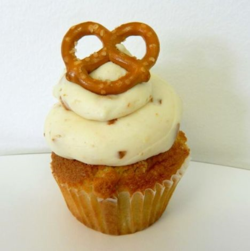Cupcake Beer and Pretzel